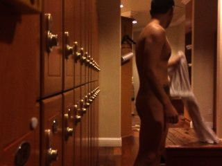 Locker Room: Naked Guy Caught Tugging His Cock
