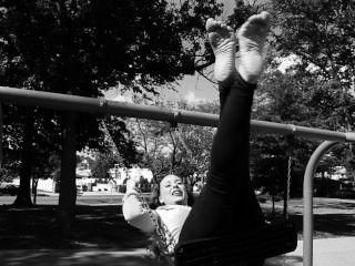 Becky Barefoot On A Swing Feet