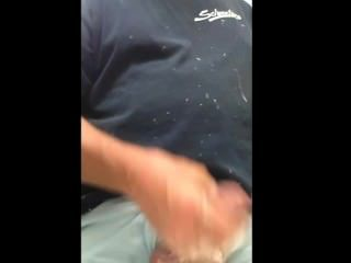 Public Restroom Masturbation And Cum