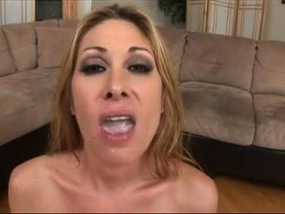 Milf gina gets fucked and swallows jizz
