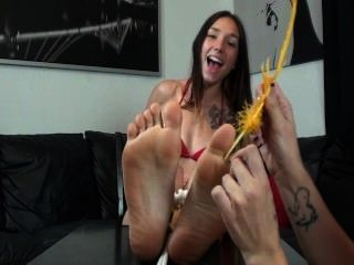 Celest Feather Tickled On Her Sexy Feet