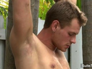 Lustful Gay Gets Nailed Outdoors