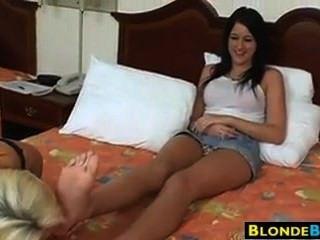 Blonde Feet Licking
