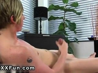 Amazing Gay Scene Emo Man Jamie Showers His Six Pack With Cum And Smears