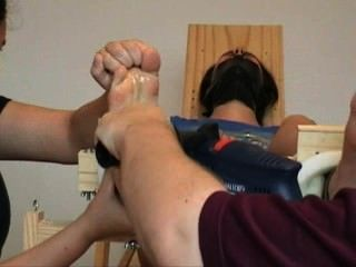 Suzanne Gagged And Tickled Barefoot