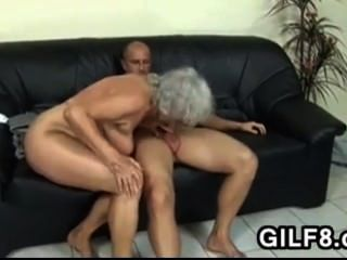 Blonde Grandma Takes It In The Ass