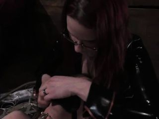 Defeated slaveboy in chastity device is face fucked by lara - 3 part 4