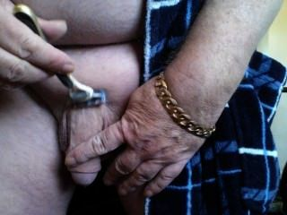 Daddy Ivan Shaving The Old Dick.