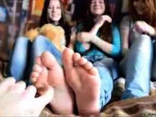 3 Girls Foot Tickling