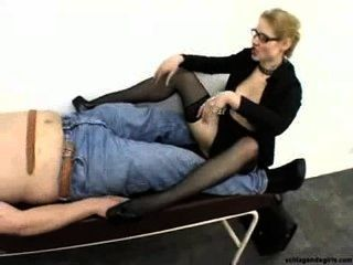 Ruthless Sexy Blonde Femdom Secretary In High Heels