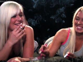 Becky And Jemma Smoking