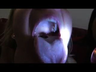 Three Giantess Girls Mouth