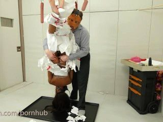 Black Girl Hung Upside Down And Anally Tenderized After Eating Ass And Cum