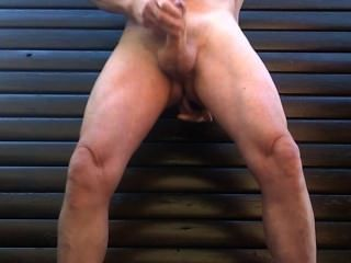 Masked Public Outdoor Cumshot