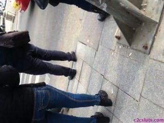 Spy Sexy Ass Teens In Street Romanian
