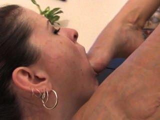Lesbian Slave Foot Worship 2