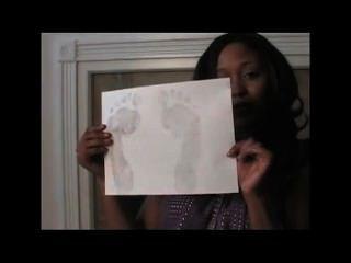 Ebony Foot Tease - Dangle, Soles, Joi