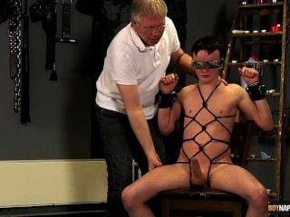 Roped Up And Wanked Off