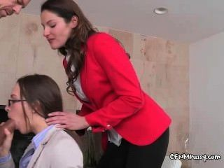 Ladies Give Professional Cock Blowing Demo
