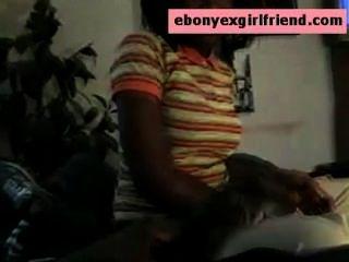 Ebony Amateur Ex Girlfriend Sucks One Big Thick Cock