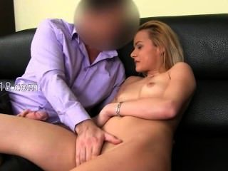 Fake Agent Copulate With Shy Blonde Babe