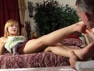 Beautiful Blonde Foot Worship