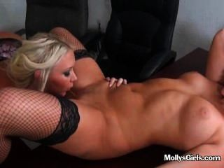 Lick under table pussy