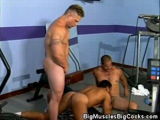 Muscled Jocks Barebacking At The Locker