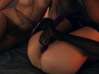 Crazy Lezzs In Nylon Suits Having Sex