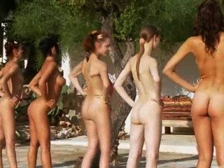 Six Naked Girls By The Pool From Poland