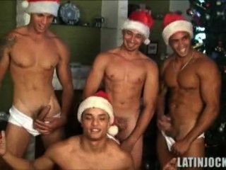 4 Jocks Bust A Nut For Video Christmas Card