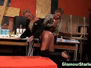 Glamorous Lesbians Get Oiled Up