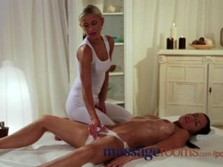 Massage Rooms Moist Young Girl Gets Hard Fingering And Licking Till Climax