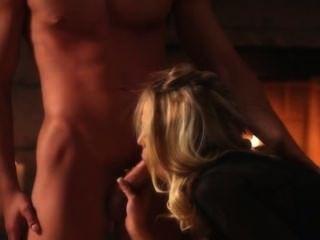 Titty Blonde Fucking Before Fireplace