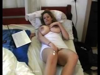 Huge Breasted Blonde Eden, Teases. Smokes At End.