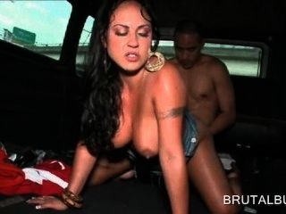 Sex Bus Brunette Tramp Pussy Banged Deep From Behind