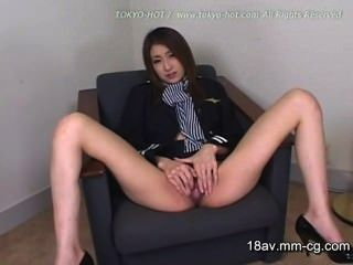 Japanese Flight Attendant Wide Open
