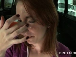 Redhead Tramp Blowing And Tugging Dick In Pov Style