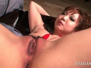 Asian Spreading Her Legs Wide Open