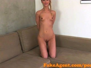 Fakeagent Hot Blonde Gets Jizz In Her Mouth