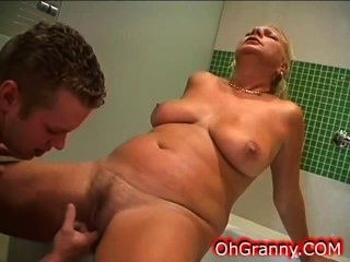 Warm Bath Time With Sexy Granny