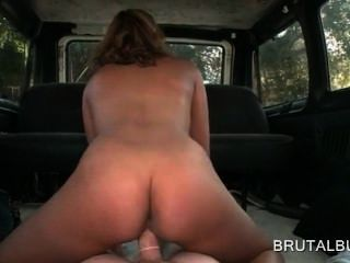 Nympho Blonde Teen In Hot Ass Jumps Cock On The Bus Floor