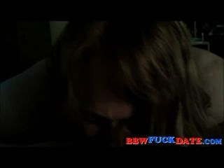 Very Fat Cute Girlfriend Gives Slow Oral Sex