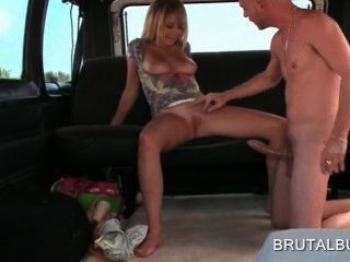 Blonde Sexy Amateur Girl Riding Huge Penis In The Sex Bus