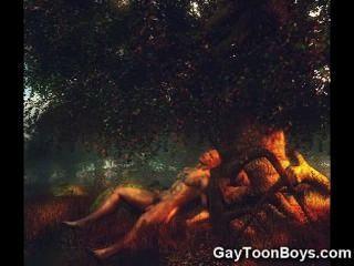3d Muscular Gays!