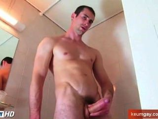 Full Video - This Straight Guy Getting To Wank His Huge Cock Under Shower!