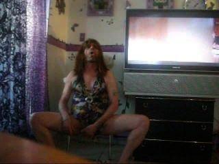 Transvestite Man Feels Hot