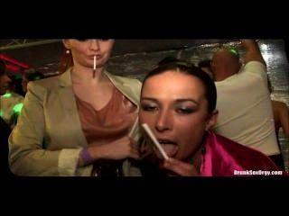 Tarra White And Hana Black Are Playing With Cigarettes On The Party!