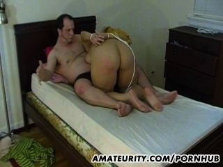 Tied Amateur Girlfriend Gives Good Blowjob