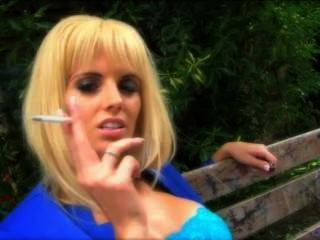 Blonde Smoking Outside